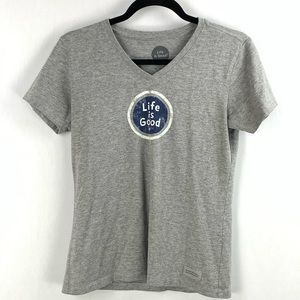 Life is Good | Gray Crusher Tee Classic Fit XS